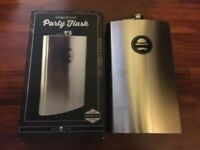 Ross & Rye 64oz Party FLASK Stainless Steel Party Screw Cap Liquor 1/2 Gallon