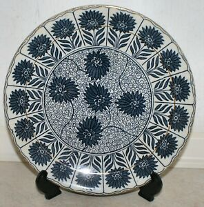 F & H Antique Aster Border Plate with Bee Mark. VGC. 23 cm
