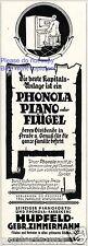 Phonola Piano Hupfeld Reklame von 1926 selbstspielendes Klavier Flügel Werbung