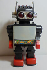 KAMCO VTG 80's SATURN TV SCREEN 12'' ROBOT B/O WALKS w/ SOUNDS - NO MISSILES