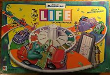 2001 THE GAME OF LIFE: MONSTERS, INC.Edition Board Game Ages 7+ By Milton Bradly