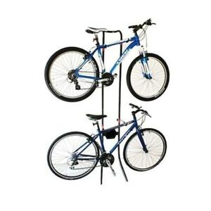 Gravity Bicycle Rack Storage Stand Bike Cycle Holds 2x Bikes Adjustable 24-149