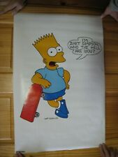 Bart Simpson Poster Skateboard Who The Hell Are You Simpsons Vintage