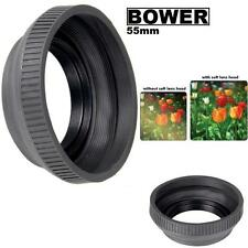 Bower 55mm Collapsible Rubber Lens Hood Fit Any Camera Lens & Video Camera