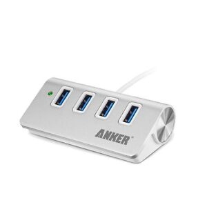 Anker Japan 4-Port USB 3.0 Hub Adapter for Apple Desctop PC Silver