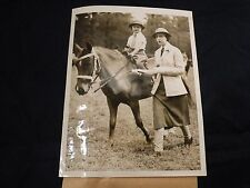 1935 News Photo AIKEN S.C. Horse Show Mrs. ATWELL with Daughter in Ponies Class