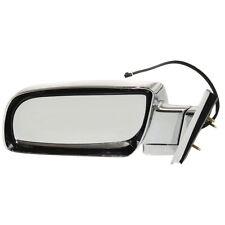 New Driver/Left Side Door Power Mirror Chrome for Chevrolet K1500 1988-1999