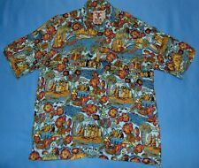 RARE  Mambo Loud Shirt  Refugee Themed  Short Sleeve Loop Collar  Men's XL  EUC