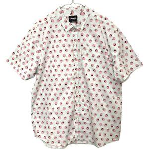 Carbon Men's Pink Alien Shirt Sleeve Shirt Size XXL