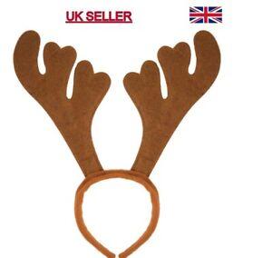 Christmas Reindeer Antlers On Headband For Christmas Fancy Dress