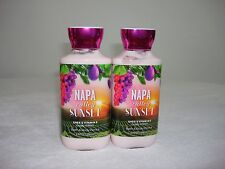 2 Bath & Body Works Napa Valley Sunset Shea & Vitamin E Body Lotion 8 oz each