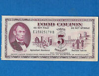 Food Stamp Coupon 1971 E15925178B  UNC $5.00  SCRIP US Dept Of Agriculture