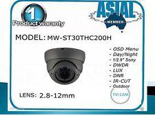 "TVI CVI AHD CVBS 1080P 1/2.9"" Sony Dome Camera 2.4 MP 2.8-12mm charcoal"