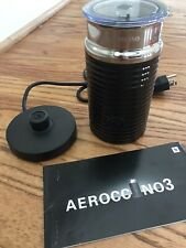 Nespresso Aeroccino 3 Milk Frother Black & Stainless with Base and Manual - EUC
