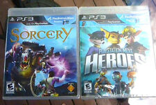 Sorcery And Playstation Heroes- Playstation 3 -Two NEW Move Games