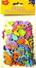 110 Foam Stickers SEALIFE Turtle Star Fish Seahorse Jellyfish Craft Create Play