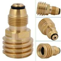 Service Valve to QCC Outlet Brass Refill Adapter Converts Propane TANK Sale O5W9