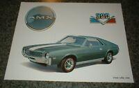 ★★1968 AMC AMX 390 AMERICAN MOTORS ART PHOTO PRINT 68 69 70 JAVELIN★★