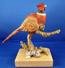 More details for country artists birds - ring necked pheasant on branch