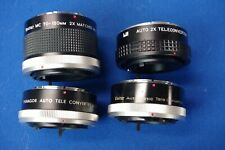 For Canon FD mount lens teleconverter x2 2x doubler lot for AE-1 camera