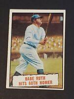 1961 Topps #401 Babe Ruth Hits 60th Homer VG-EX Crisp HOF All-Time Yankee
