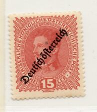 Austria 1918-19 Early Issue Fine Mint Hinged 15h. Optd 220890