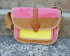 Fossil Canvas Colorful Shoulder Bag Purse size Medium