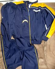 Vintage San Diego Chargers NFL Reebok 2-Piece Team Logo Track Suit-Rare item!