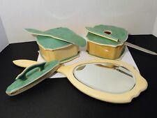 "Vintage Fiberloid ""Diana"" Vanity Set - 6 Pieces - Mirror, Nail File/Buffer, More"