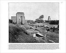 Karnak Temple Gate of Pylon Egypt / Greece Athens  1897 PRINT