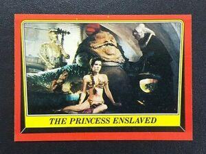 1983 Topps Star Wars Return Of The Jedi Card - #32 The Princess Enslaved