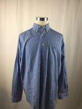 Ralph Lauren Blue Striped Long Sleeve Button Up  17 XL  - B14