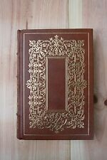 THE FRANKLIN LIBRARY TRISTRAM SHANDY BY LAURENCE STERNE, LEATHER