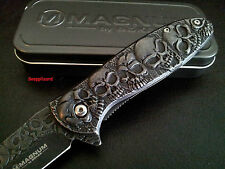 "Boker Magnum Dia Del Muertos 01SC519N, 4-1/2"" Flipper Folding Pocket Knife EDC"