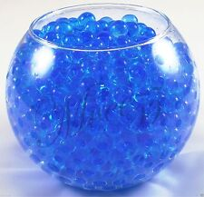 400 Water Beads Crystal Bio Soil GEL Ball Wedding Vase Vase Filler Party Blue