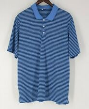 Adidas men's s/s polo Blue with black stripe shirt XL extra large