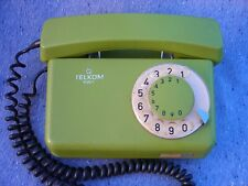 Old Soviet Disk Dial Telephone Green 1980s
