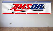 AMSOIL Flag Banner 2X8Ft Motor Sports Oil Shop Garage Wall Decor Flag 240X60cm