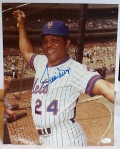 Willie Mays Mets Signed Jsa 11x14 Photo Authentic Autograph