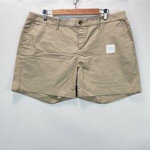 "Old Navy Women's Size 14 Beige Khaki Chino Shorts 5"" Inseam"