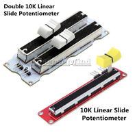 10K Double/Single Linear Slide Potentiometer Module Arduino Electronic Block