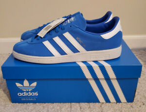 New Mens Adidas Originals Munchen Sneakers Blue/White sz 10 (B96496)