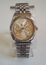 Men's Geneva Silver Finish Gold dial  bracelet fashion inspired watch