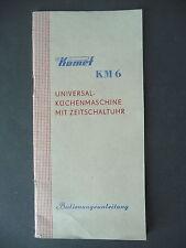Gebrauchsanleitung Komet KM 6 Küchenmaschine DDR 1964