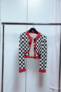 Giacca Moschino Chip&Chic modello Chanel tessuto ottoman (scacchi) VINTAGE tg 44