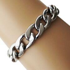 Bracelet chaîne en acier inox Gourmette articulé Collier chaine argent