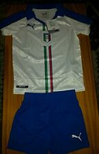 Puma ITALIA AWAY FOOTBALL KIT 5-6 ANNI NUOVO CON ETICHETTA Camicia + shorts 2015-2016