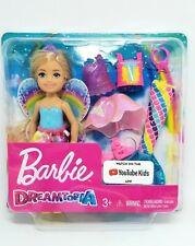 Barbie Dreamtopia mini doll Fairytale Dress-Up Chelsea Blonde Mermaid Butterfly