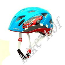 Alpina Ximo Flash Children Bicycle Helmet 49-54 cm with Light Red Car Blue