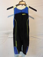 Louis Garneau Women's Comp Triathlon Suit Large Black/Dazzling Blue/Bright Yello